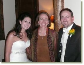 Diane Gansauer, celebrant at a wedding